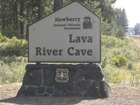 Site - Lava River Cave sign