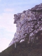 Site - Old Man of the Mountain (before erosion)
